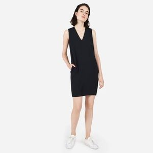 EVERLANE Japanese GoWeave sleeveless v-neck dress